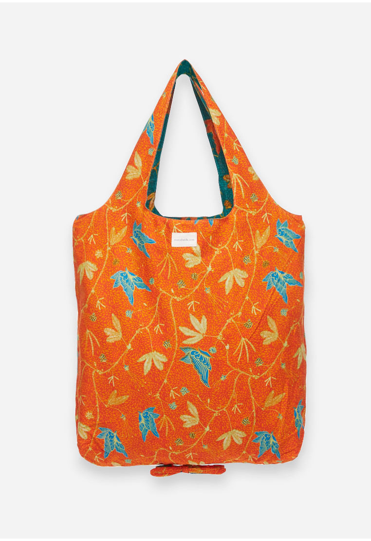 Foldable Bag - Orange/Green